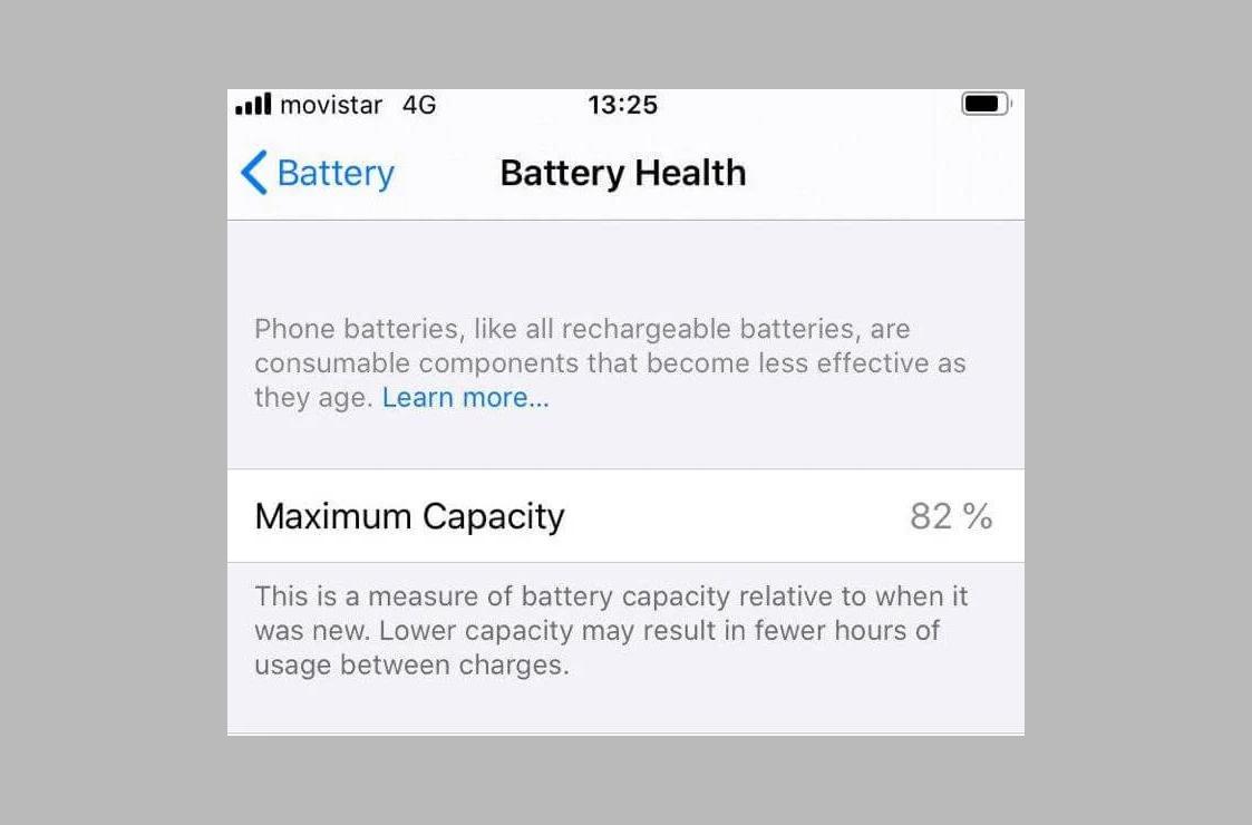 Что означают проценты в меню состояния аккумулятора iPhone