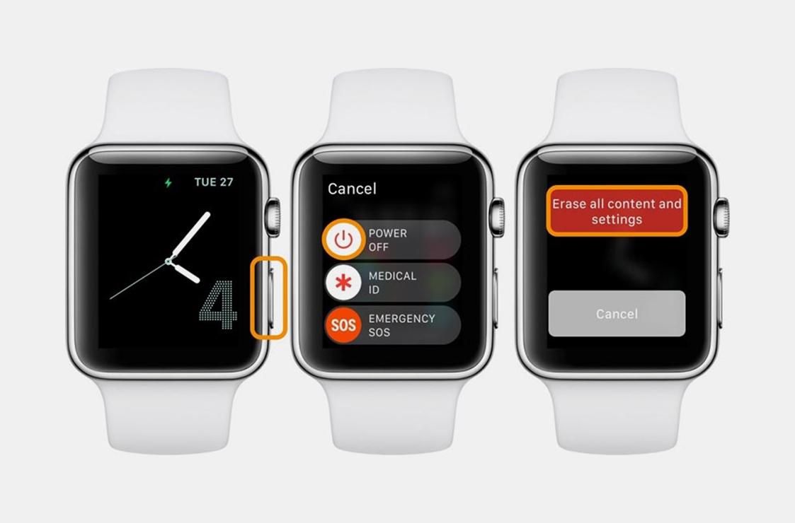 Как сбросить Apple Watch без iPhone?
